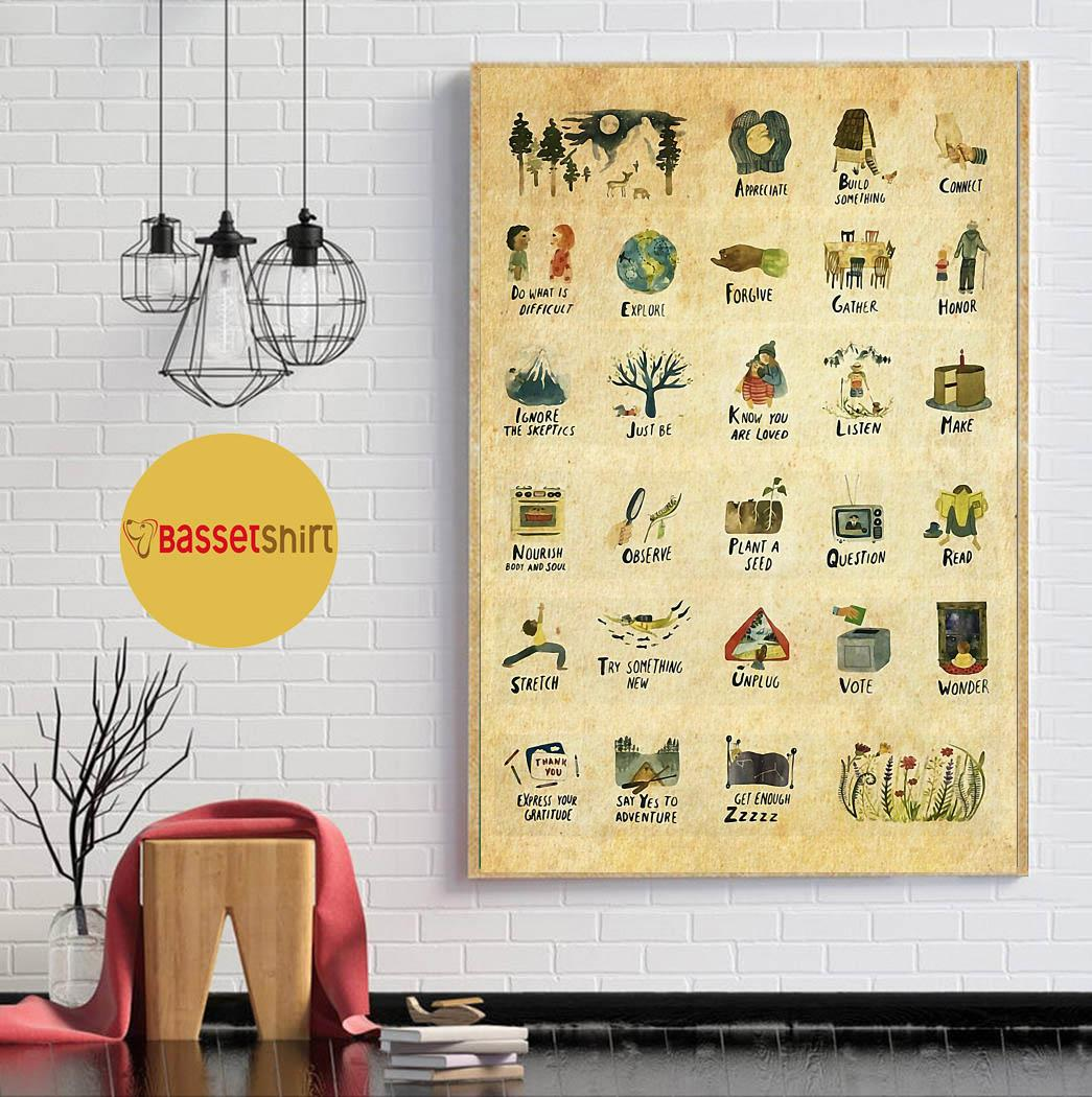 Things to do vertical poster