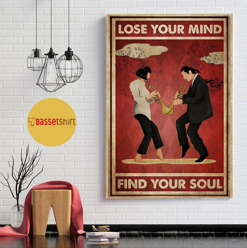 Trumpet pulp fiction lose your mind find your soul poster