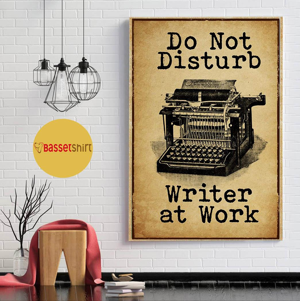 Typewriter do not disturb writer at work poster