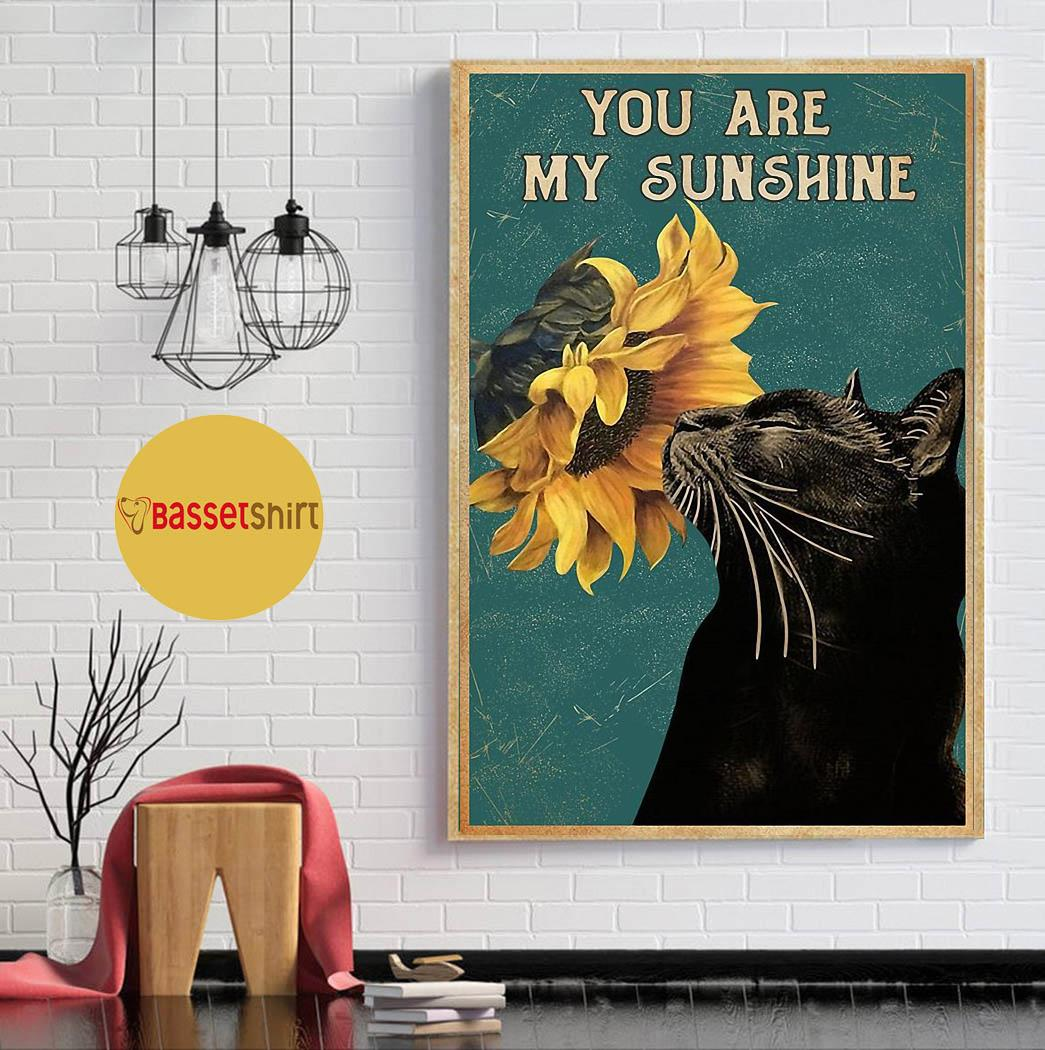 Vintage black cat piano you are my sunshine poster