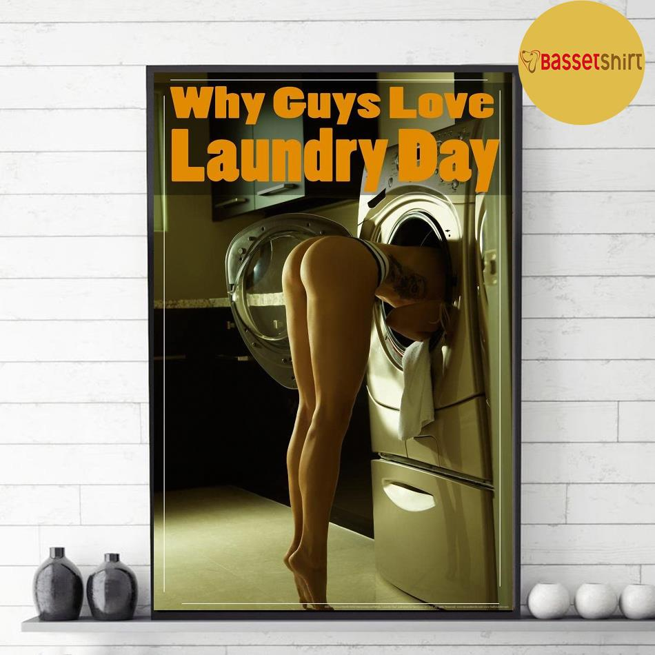 Why guys love laundry day poster canvas decor