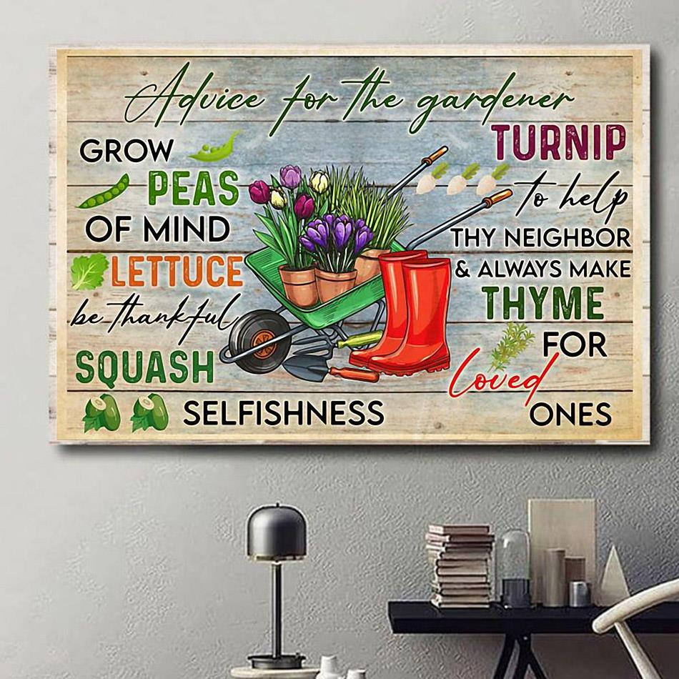 Advice for the gardener print canvas