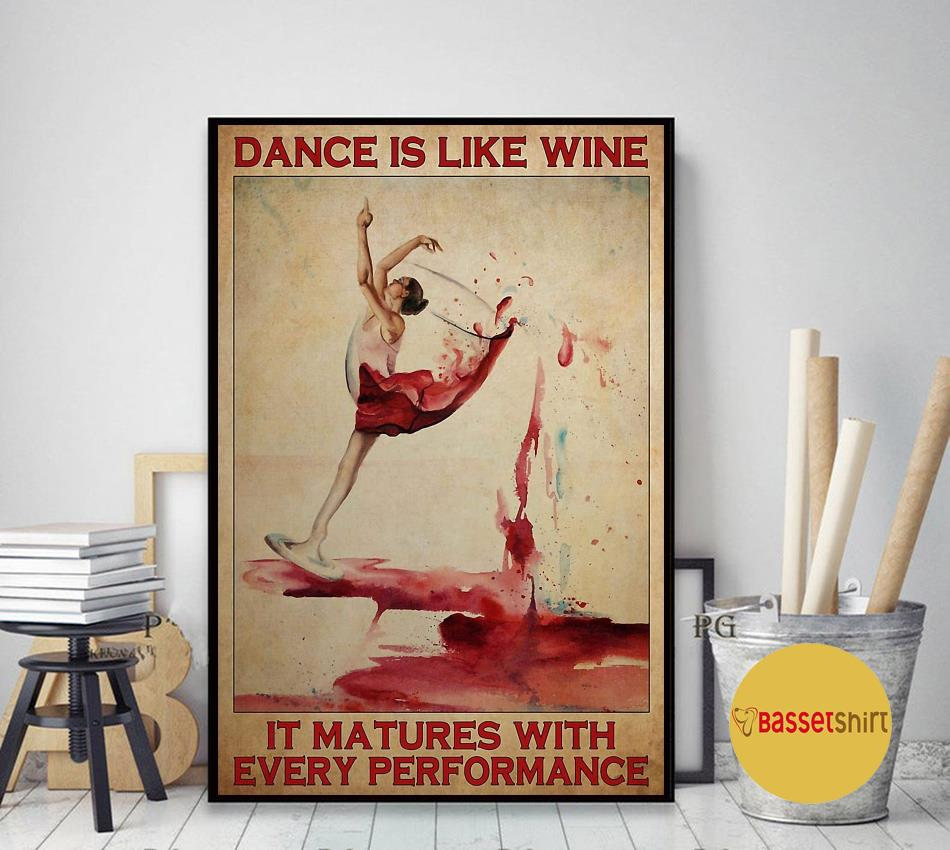 Ballet dance is like wine it matures with every performance poster canvas art decor