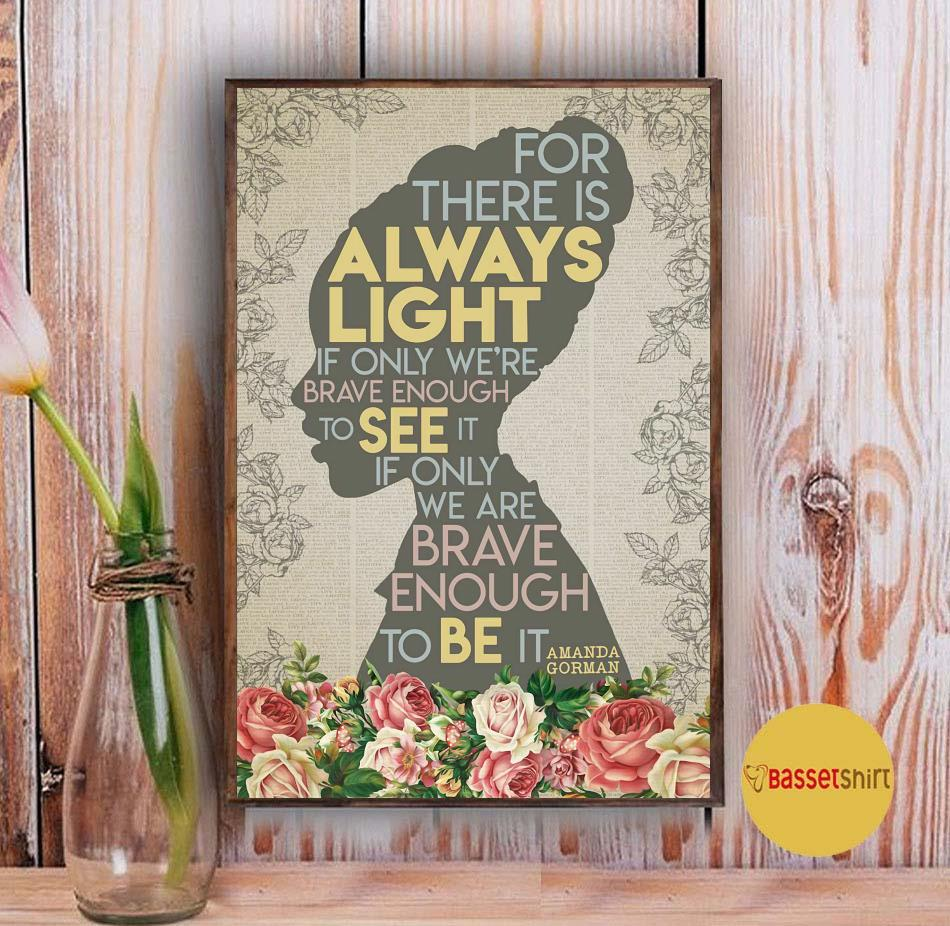 Black girl for there is always light poster Vintage