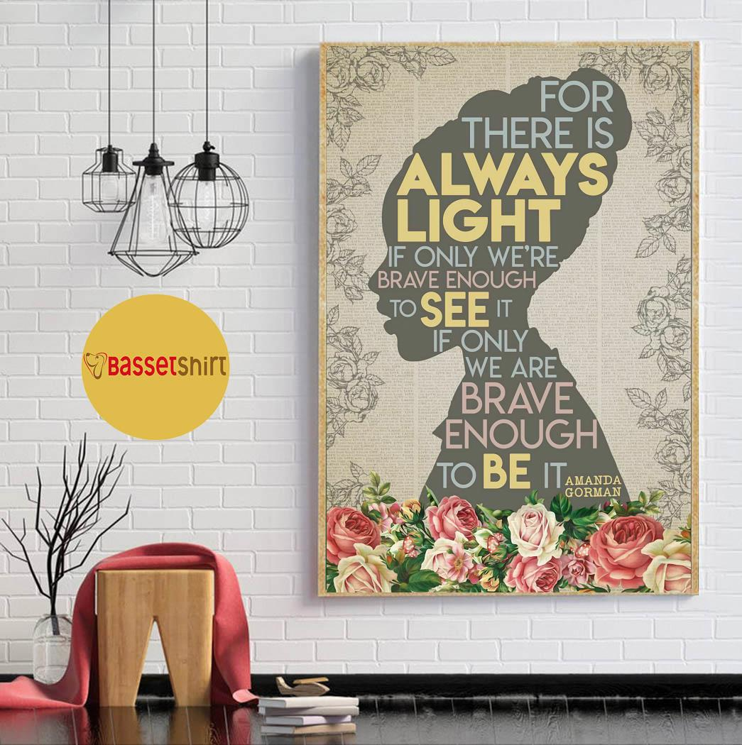 Black girl for there is always light poster