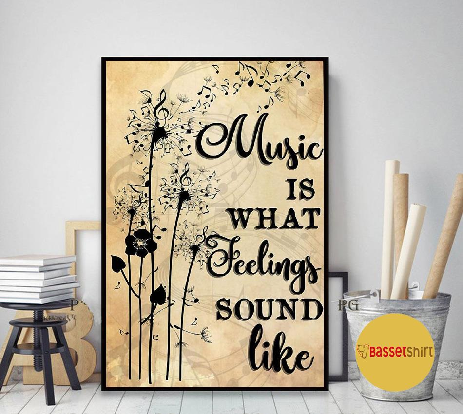 Dandelion art music is what feeling sounds like poster art decor