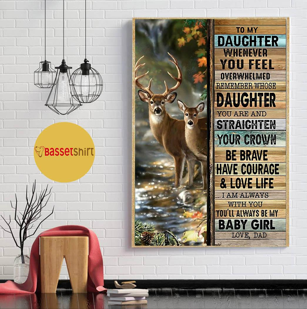 Deer hunting dad to daughter poster