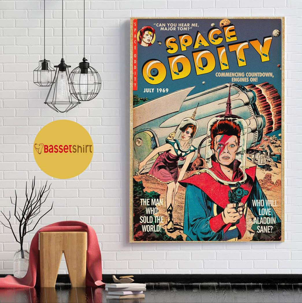 David Bowie space oddity comic book mashup poster