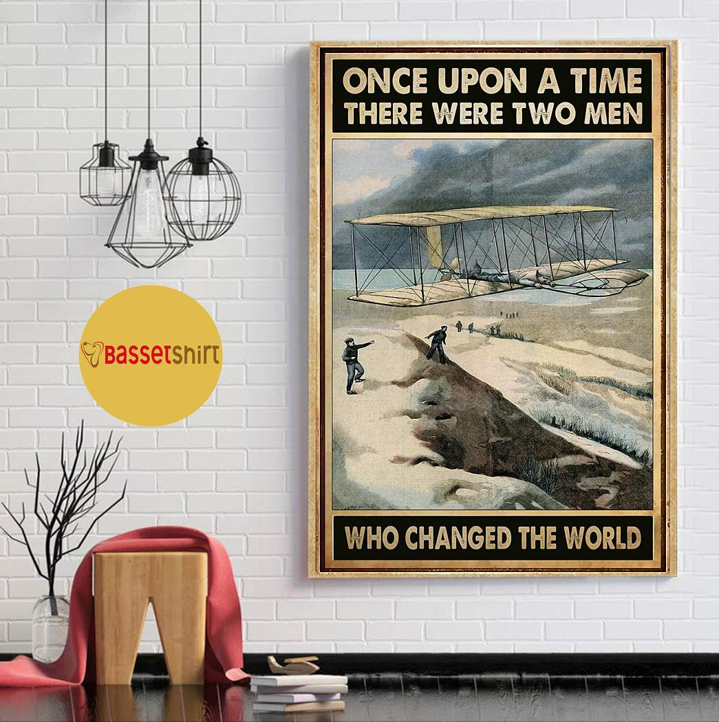 Once upon a time there were two man who changed the world poster