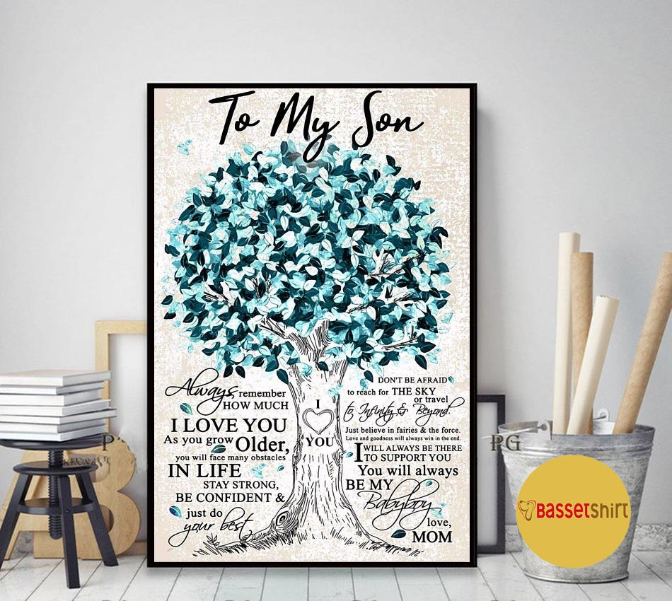 Beloved tree to my son always remember how much I love you canvas art decor