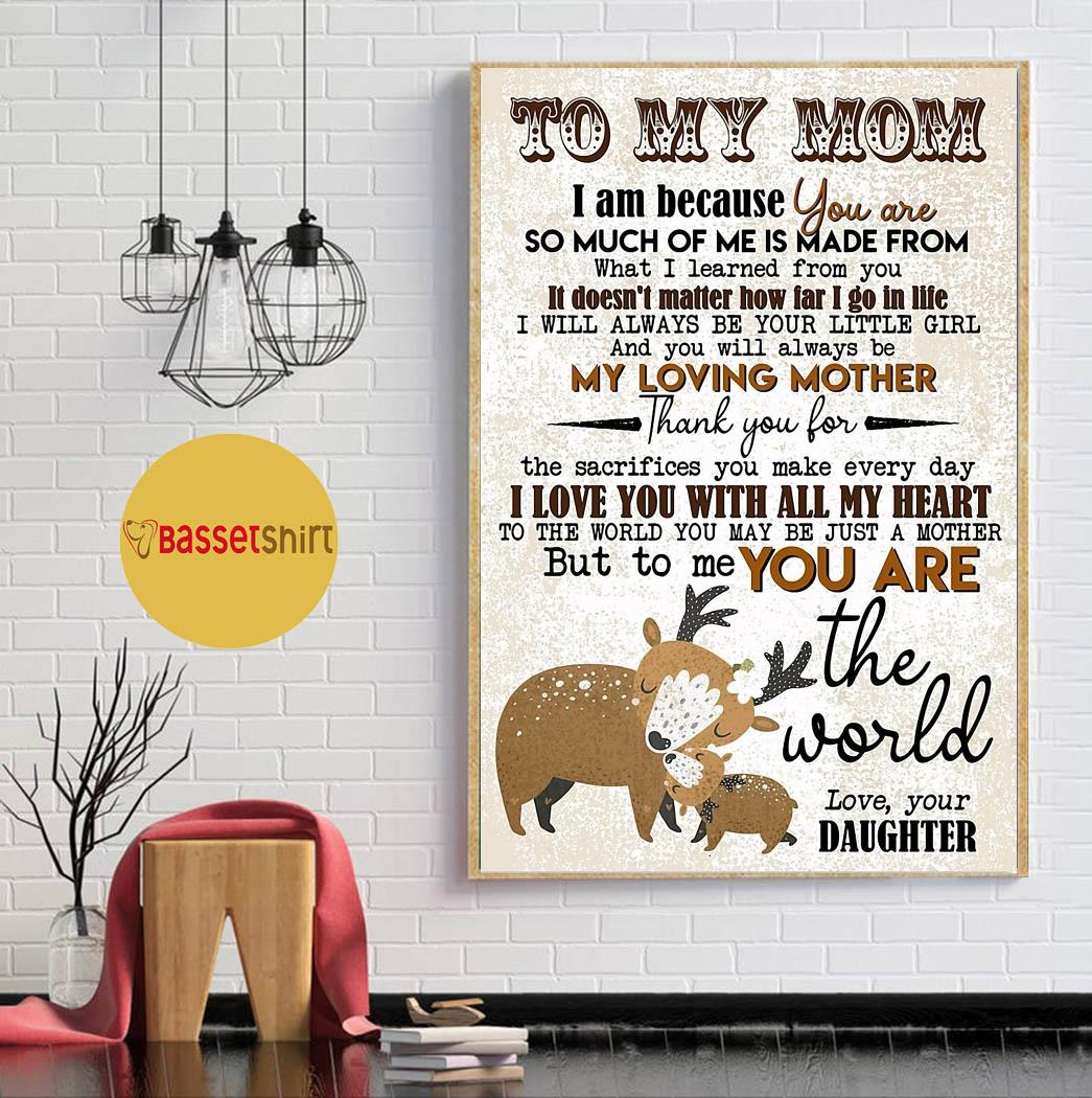 Deer daughter to mom I love you with all my heart canvas