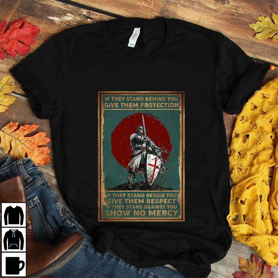 Knights Templar if they stand behind you protect them poster canvas unisex t-shirt