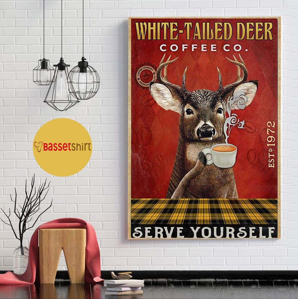 White-Tailed Red coffee serve yourself poster canvas