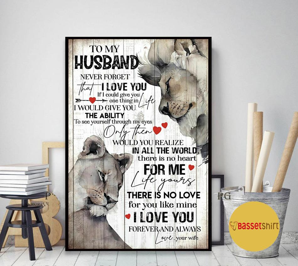 Lion wife to my husband father's day gift poster
